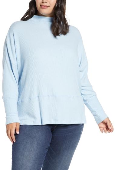 Imbracaminte Femei Caslon Rib Funnel Neck Sweater BLUE FALLS
