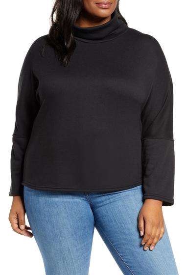 Imbracaminte Femei Caslon Cozy Turtleneck Sweatshirt BLACK