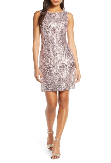Imbracaminte Femei Vince Camuto Sequin Embellished Cocktail Minidress BLUSH