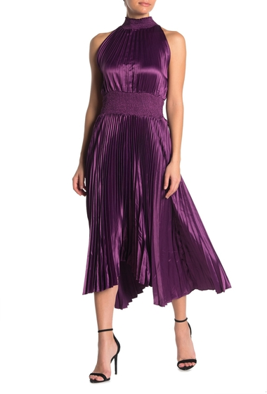 Imbracaminte Femei Do Be Pleated HighLow Midi Dress BERRY