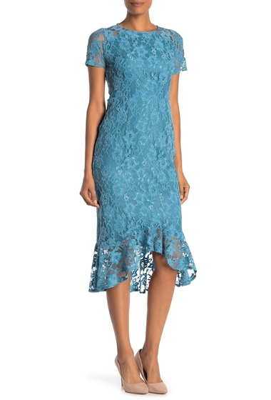 Imbracaminte Femei Nanette Lepore Lace Ruffle HighLow Dress DRAGONFLYT