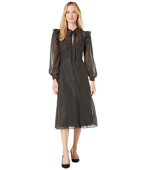Imbracaminte Femei Jill Jill Stuart Foil Printed Chiffon Rufle Dress BlackGold