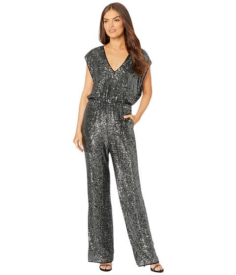 Imbracaminte Femei BCBGMAXAZRIA Glitter Jumpsuit Gunmetal Combo