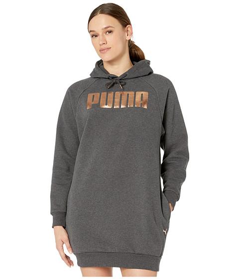 Imbracaminte Femei PUMA Holiday Pack Fleece Sweatshirt Dress Dark Grey Heather