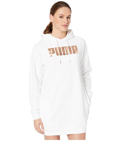 Imbracaminte Femei PUMA Holiday Pack Fleece Sweatshirt Dress White