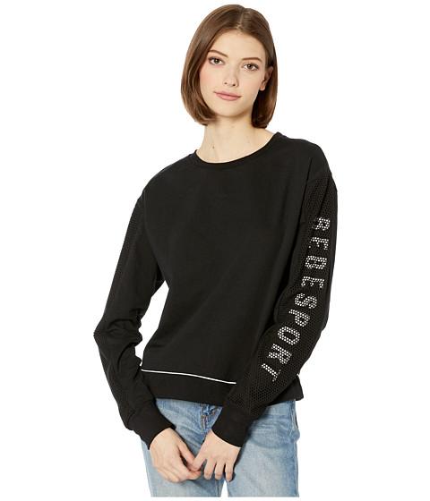 Imbracaminte Femei Bebe Sport Mesh Mix Sweatshirt BlackWhite
