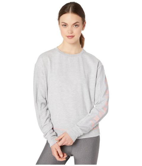 Imbracaminte Femei Bebe Sport Mesh Mix Sweatshirt Heather GreyNeon Peach