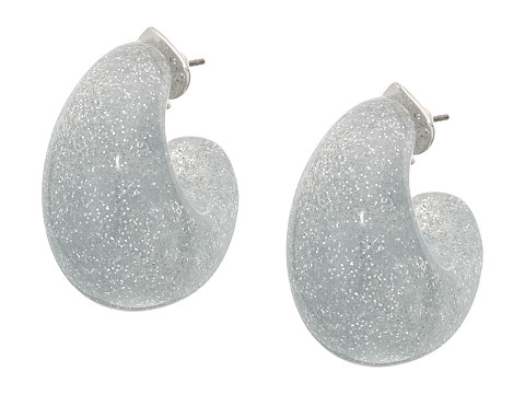 Bijuterii Femei Kate Spade New York Adore-Ables Glitter Huggies Earrings Silver