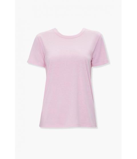 Imbracaminte Femei Forever21 Basic Slub Knit Tee LIGHT PINK