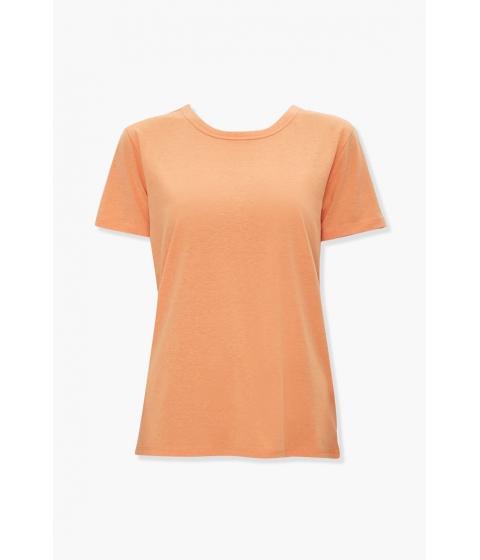 Imbracaminte Femei Forever21 Basic Slub Knit Tee ORANGE