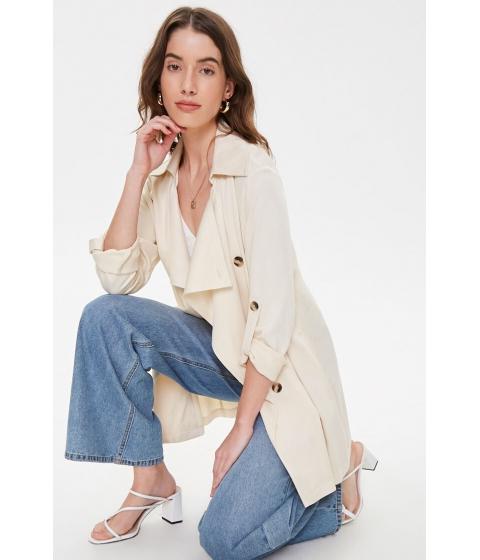 Imbracaminte Femei Forever21 Tortoiseshell Button Longline Jacket BEIGE