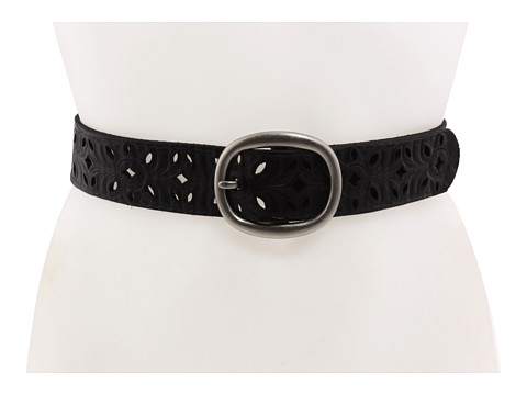 Accesorii Femei Fossil Floral Perforated Strap Black