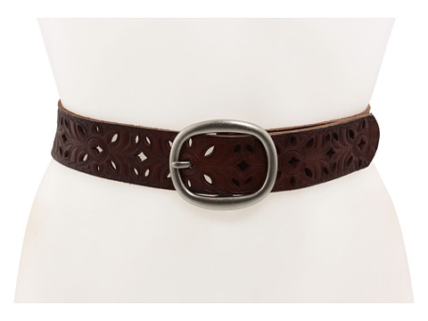 Accesorii Femei Fossil Floral Perforated Strap Brown