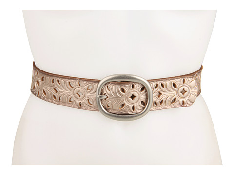 Accesorii Femei Fossil Floral Perforated Strap Silver