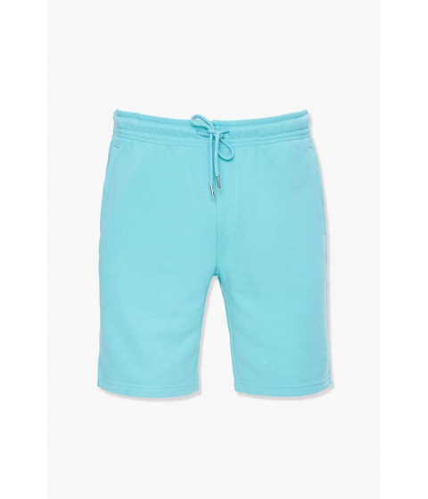 Imbracaminte Barbati Forever21 French Terry Drawstring Shorts TEAL