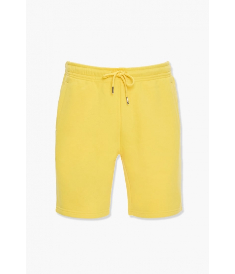 Imbracaminte Barbati Forever21 French Terry Drawstring Shorts YELLOW