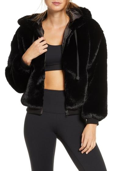 Imbracaminte Femei Blanc Noir Cozy Faux Shearling Hoodie BLACK