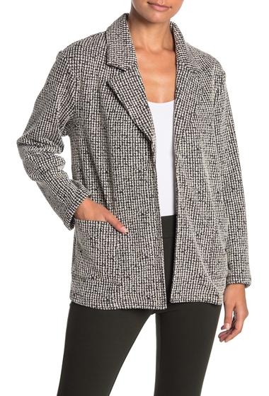 Imbracaminte Femei Everleigh Soft Knit Printed Blazer Jacket Regular Petite BLACK