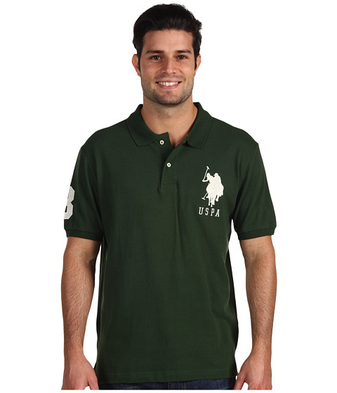 Imbracaminte Barbati US Polo Assn Big Pony Polo II Winter Pine Green