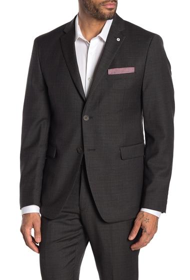 Imbracaminte Barbati Original Penguin Brown Plaid Two Button Notch Lapel Suit Separate Wool Blend Blazer BROWN