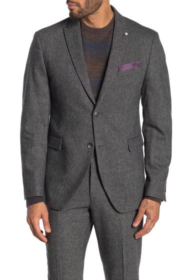 Imbracaminte Barbati Original Penguin Grey Birdseye Two Button Notch Lapel Suit Separate Wool Blend Blazer GREY