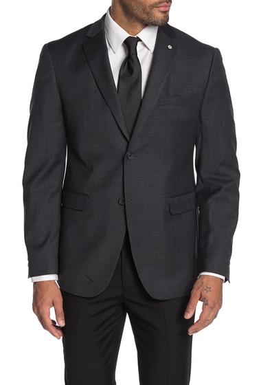 Imbracaminte Barbati Original Penguin Slim Fit Grey Check Two Button Wool Blend Suit Separates Jacket DARK GREY CHECK