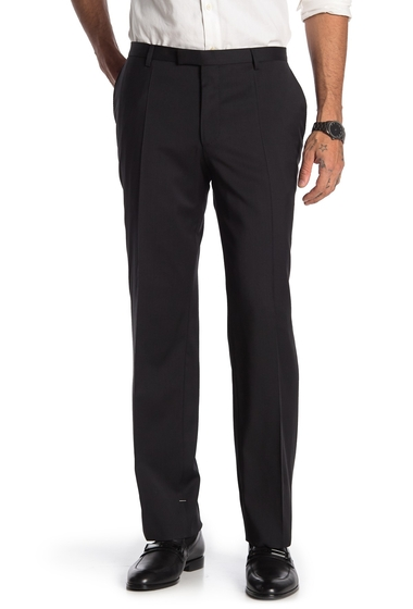 Imbracaminte Barbati BOSS Flat Front Wool Pants BLACK