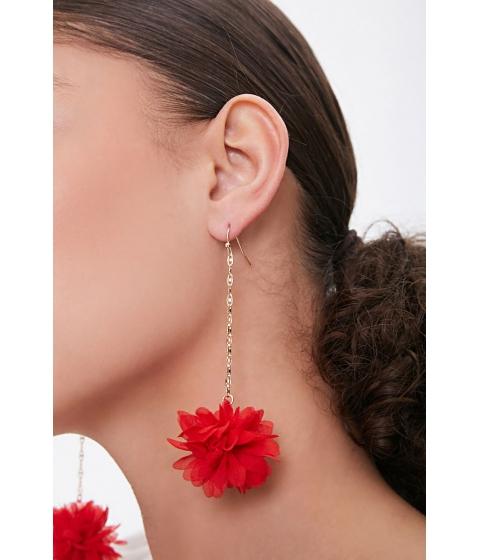 Bijuterii Femei Forever21 Floral Drop Earrings GOLDRED