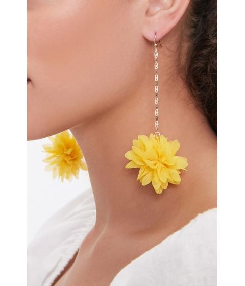 Bijuterii Femei Forever21 Floral Drop Earrings GOLDYELLOW