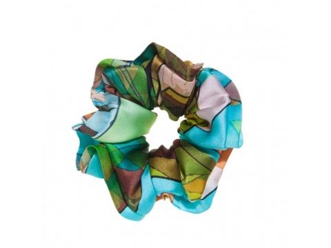 Accesorii Femei Tie Me Up Hair twist Blue Girl Imprimeu geometric turcoaz bleu verde roz