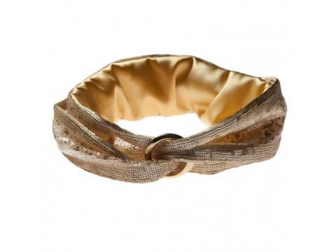 Accesorii Femei Tie Me Up Turban metalic auriu Universala