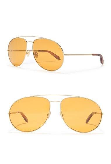 Ochelari Femei Victoria Beckham 62mm Aviator Sunglasses CARAMELBLONDE GOLD