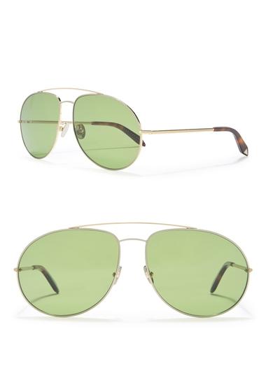 Ochelari Femei Victoria Beckham 62mm Aviator Sunglasses SOLID GREENBLONDE G