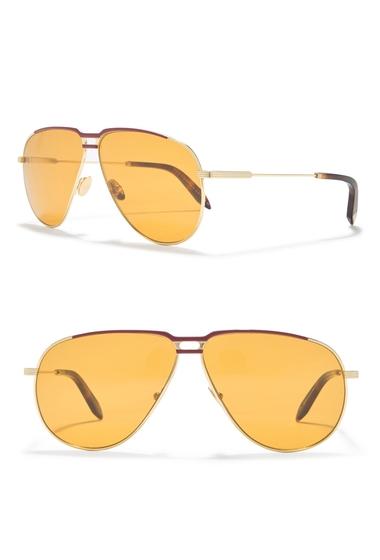 Ochelari Femei Victoria Beckham 64mm Aviator Sunglasses CARAMELBLONDE GOLD