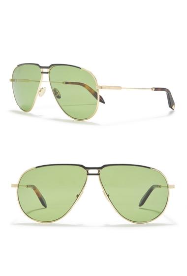 Ochelari Femei Victoria Beckham 64mm Aviator Sunglasses GREENBLONDE GOLD