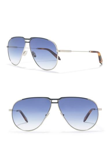 Ochelari Femei Victoria Beckham 64mm Aviator Sunglasses NAVYSILVER