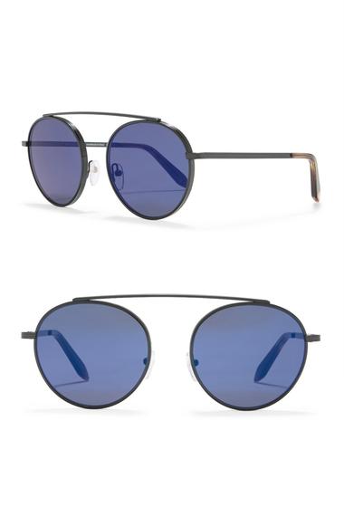 Ochelari Femei Victoria Beckham 54mm Round Sunglasses ECLAT BLUE MIRROR