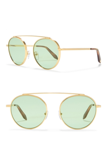 Ochelari Femei Victoria Beckham 54mm Round Sunglasses ECLAT GREEN GOLD