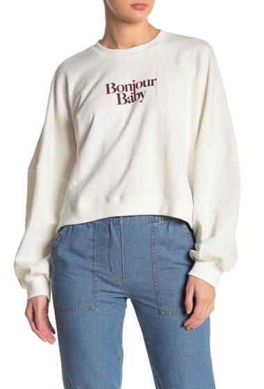 Imbracaminte Femei COTTON ON Harper Boxy Graphic Sweatshirt BONJOUR BABYGARDENIA