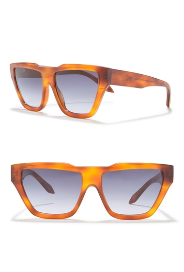 Ochelari Femei Victoria Beckham 56mm Square Sunglasses VINTAGE TORTOISE