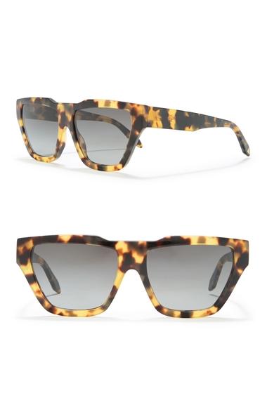 Ochelari Femei Victoria Beckham 56mm Square Sunglasses YELLOW TORTOISE