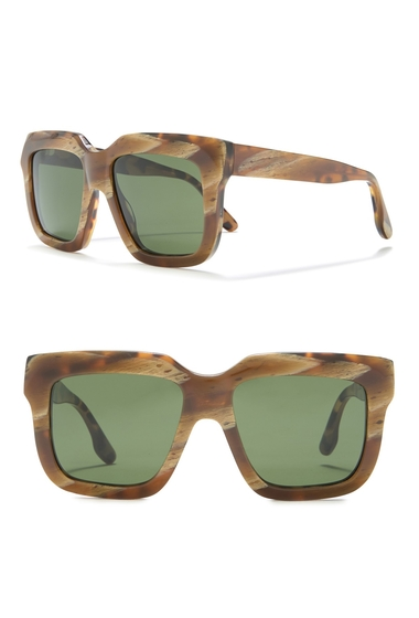 Ochelari Femei Victoria Beckham 54mm Oversize Square Sunglasses GREEN PEARL TRTSHELL