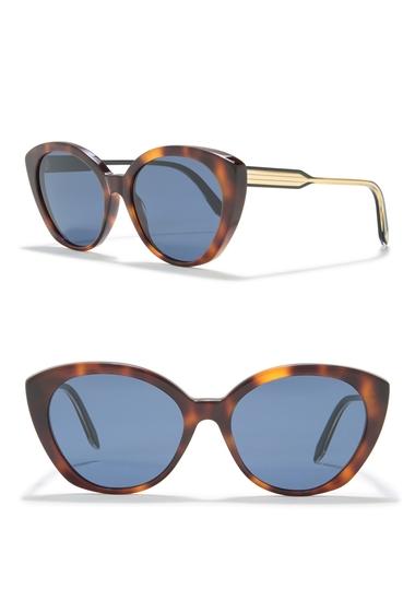 Ochelari Femei Victoria Beckham 55mm Large Cat Eye Sunglasses CLOSED TORT