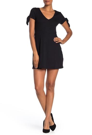 Imbracaminte Femei COTTON ON Sadie Tie Sleeve Fit Flare Mini Dress BLACK