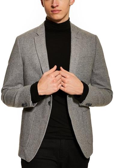 Imbracaminte Barbati TOPMAN Edgar Skinny Fit Tweed Sport Coat GREY