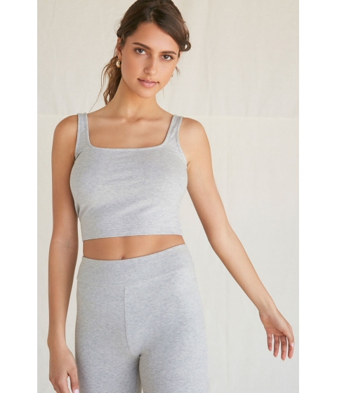 Imbracaminte Femei Forever21 Cotton-Blend Cropped Tank Top HEATHER GREY