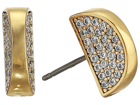 Bijuterii Femei Kate Spade New York Sliced Scallops Pave Studs Earrings ClearGold