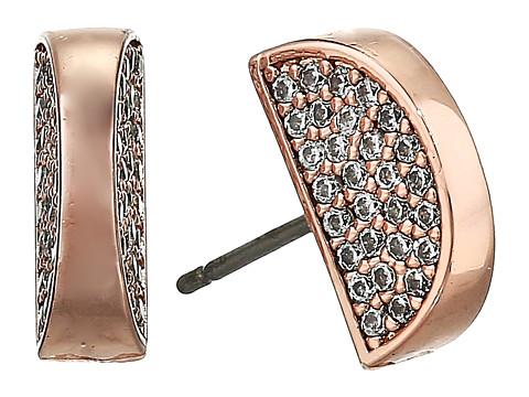 Bijuterii Femei Kate Spade New York Sliced Scallops Pave Studs Earrings ClearRose Gold