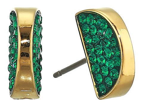 Bijuterii Femei Kate Spade New York Sliced Scallops Pave Studs Earrings Emerald