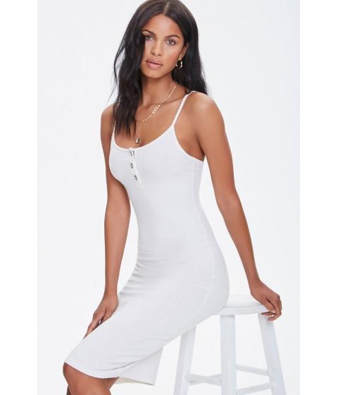 Imbracaminte Femei Forever21 Ribbed Cami Bodycon Dress CREAM